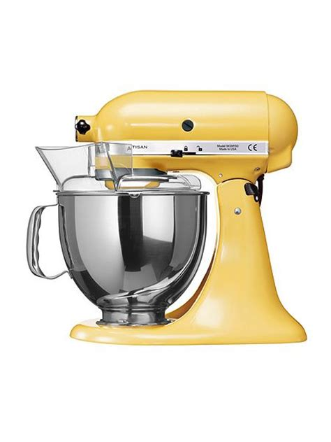 kitchen aid yellow kitchenaid artisan 4 8l stand mixer majestic yellow