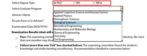 phd advisor selection using the report on final oral examination form graduate