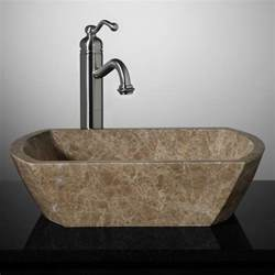 stone sinks for bathrooms palatine rectangular marble vessel sink light emperador