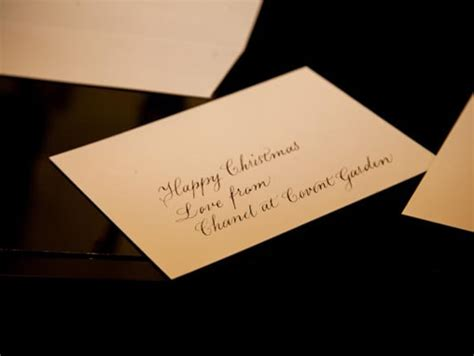 Chanel Gift Card - a beauty full christmas at chanel covent garden telegraph