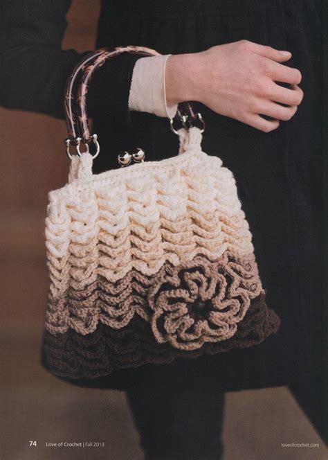 crochet pattern crocodile stitch bag crocodile stitch vintage styled handbag crochet pattern
