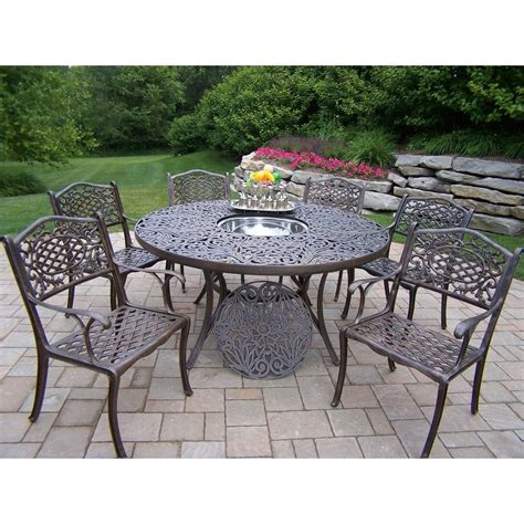 7pc Patio Dining Set Oakland Living Mississippi 7 Patio Dining Set With 2205 2012 8 Ab The Home Depot