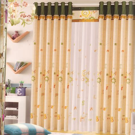 baby bedroom curtains alphabet patterns light orange baby room curtains