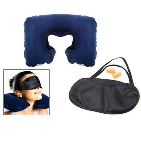 Termurah Travel Pillow Set 3 In 1 3 in 1 travel set air neck pillow