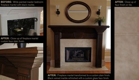 Staining Fireplace by 1000 Images About Ccff Bookcase Before Afters On