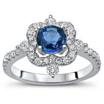 Blue Safir Sapphire 2 25ct buy blue sapphire engagement rings shop now and save