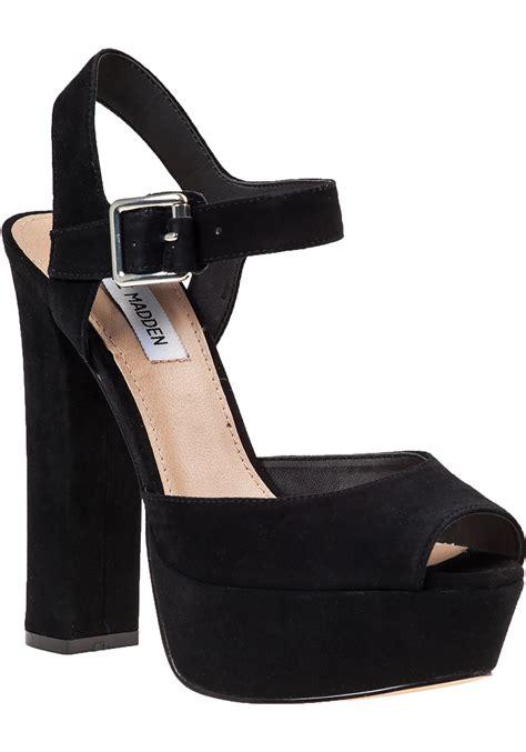 steve madden platform sandal steve madden jillyy platform sandal black suede in black