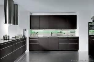 dark wood black kitchen