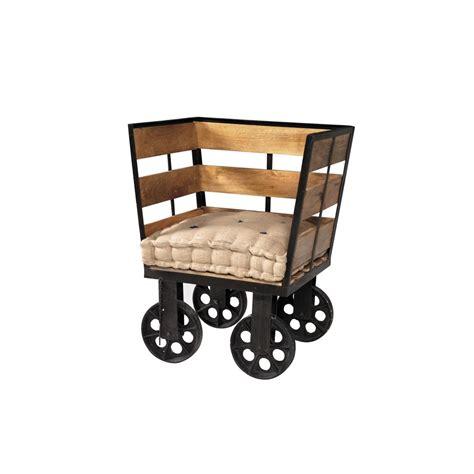 poltrona in stile poltrona in stile industrial legno e ferro vendita prezzo