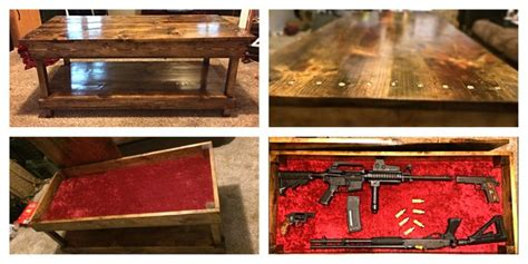 coffee table with gun storage plans plans for coffee table with gun storage