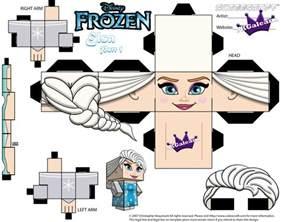 elsa from disney s frozen cubeecraft template p1 by