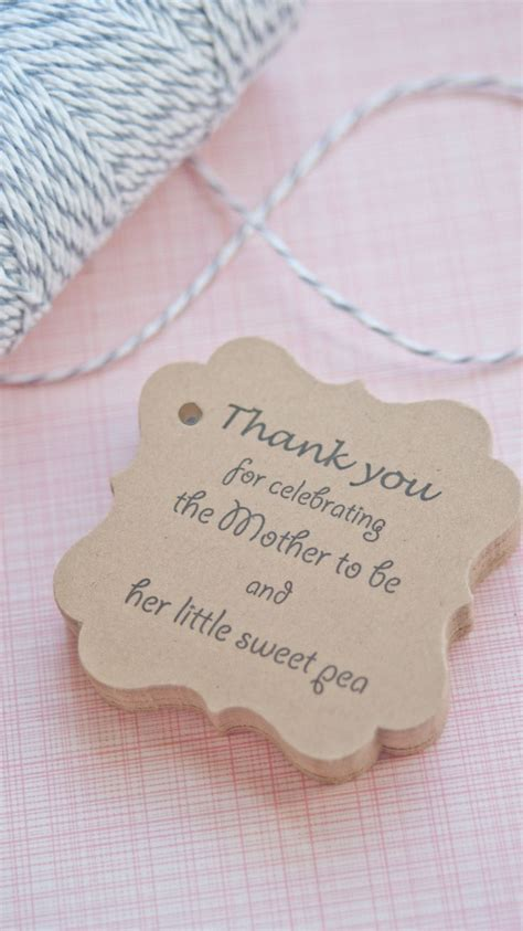 Thank You Favors Baby Shower by Baby Shower Favor Tags Www Somethingwithlove Etsy Www
