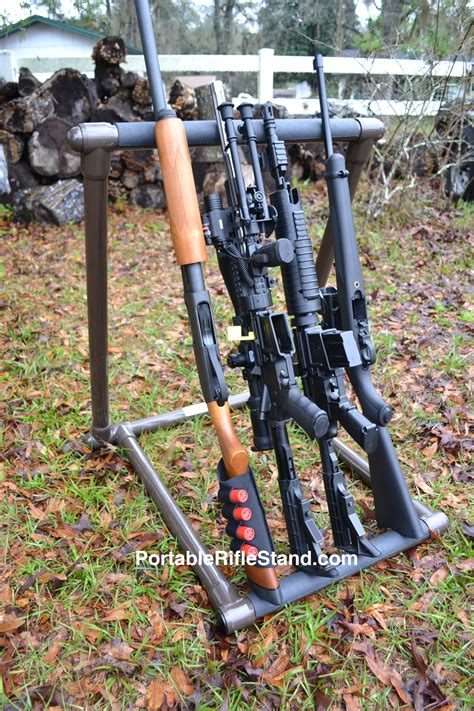 Rifle Stand by Portable Rifle Stand Aughog Products Ahp Outdoors The