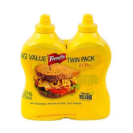 Classic Yellow Mustard By Sokolati frenchs classic yellow mustard 30 oz bottle pack of 2 by