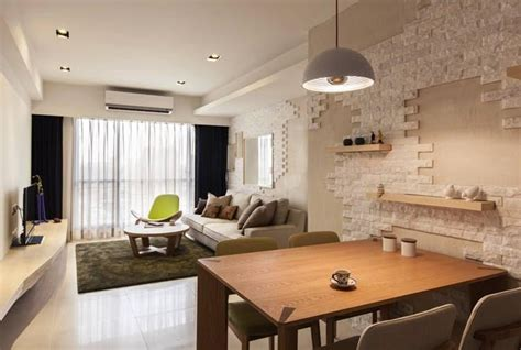 brick l post designs brick wall accent living room