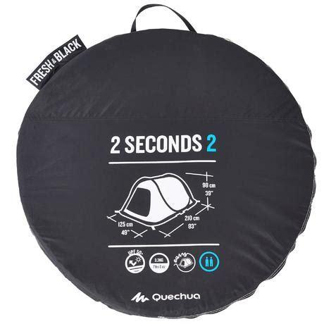tende 2 seconds tente de cing 2 seconds easy 2 personnes fresh black