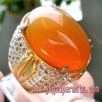 Cincin Orange Chalcedony batu sungkis chalcedony asli batu akik