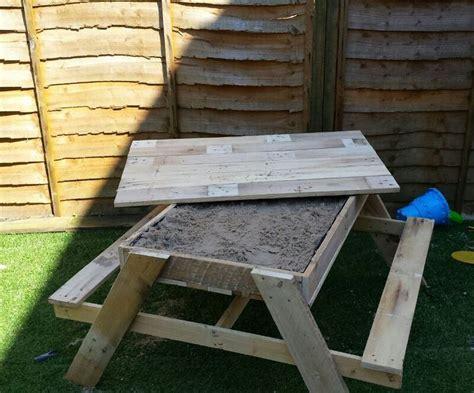 picnic bench out of pallets sandpit picnic table pallet ideas sandpit