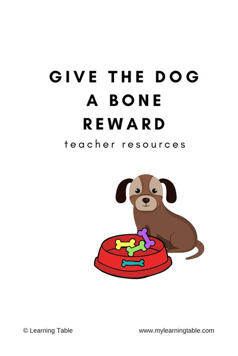 give the a bone give the a bone reward vipkid resources learning table