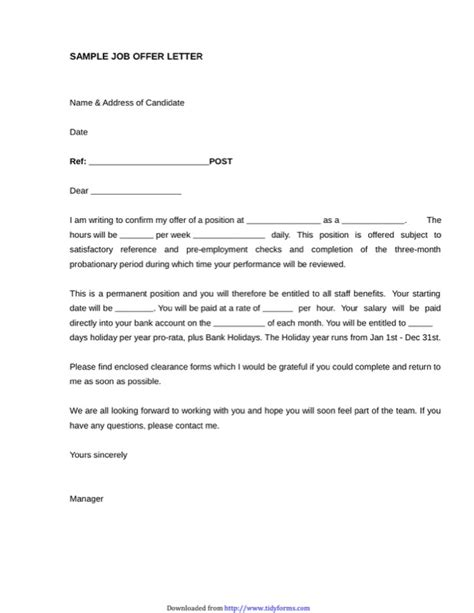 appointment letter format for apprentice sle offer letter with probation period docoments