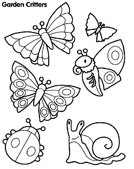 Garden Creatures Coloring Pages | garden critters coloring page crayola com
