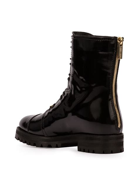 10 Jimmy Choo Boots by Jimmy Choo Leather Combat Boots In Black Lyst
