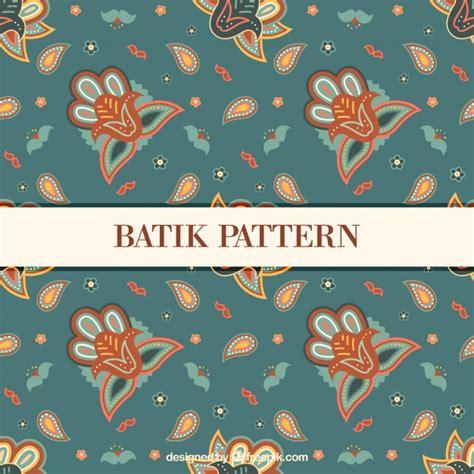 batik pattern download floral vintage pattern in batik style vector free download