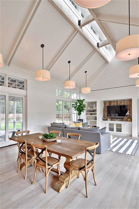 Dining Room With Grey Floor Modern Farmhouse Farmhouse Dining Room By