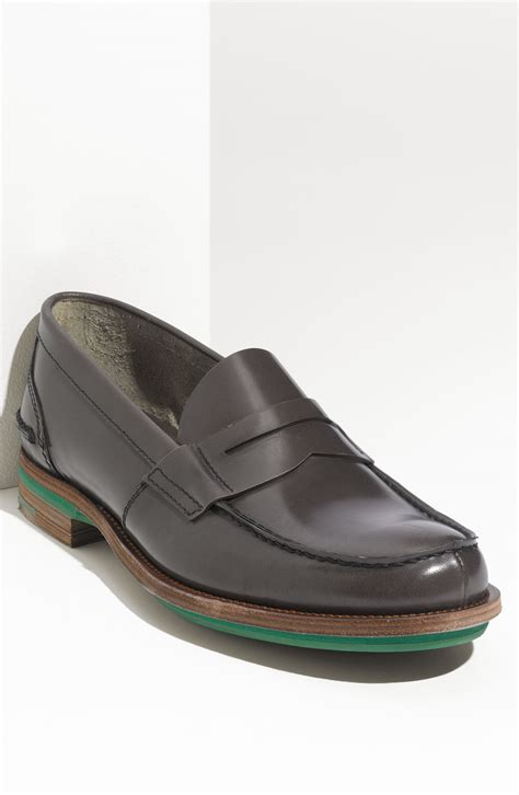 prada loafer prada sole loafer in gray for grey lyst