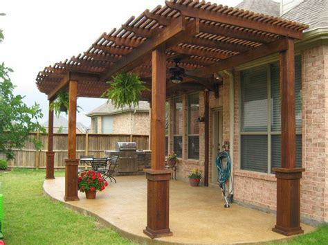 Wood Patio Cover Designs How To Design Idea Covered Back Covering A Patio