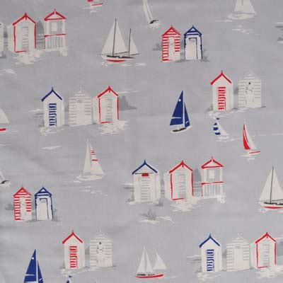 seaside curtain material seaside fabrics boats and fishes fabrics for kids rooms