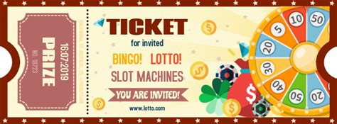 bingo lottery contest ticket template postermywall