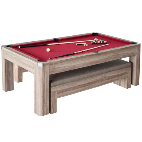 newport 7 foot pool table newport 7ft pool table combo set with benches pool warehouse