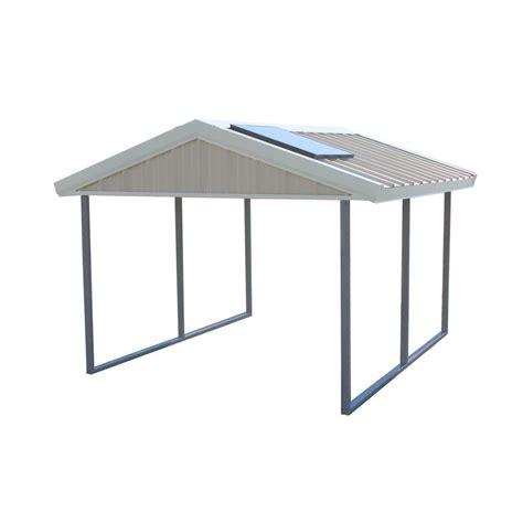 Steel Frame Carport Canopy Pws Premium Canopy 10 Ft X 12 Ft Ash Grey And Polar