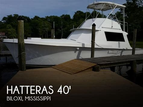 convertible fishing boat brands hatteras 40 convertible for sale in biloxi ms for 38 900