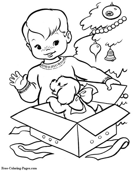 christmas coloring pages christmas gift