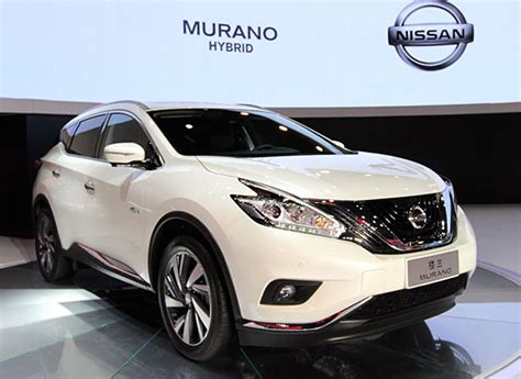 nissan suv 2016 white hybrid nissan murano suv makes auto appearance