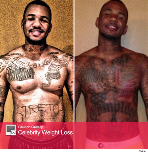the games tattoos rapper before tattoos the flaunts weight loss