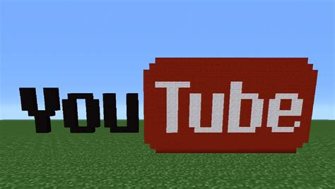Youtube Tutorial Minecraft | minecraft tutorial how to make the youtube logo youtube