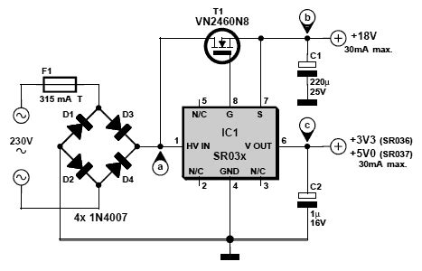220v ac to 3 3v dc schematic power supply circuits