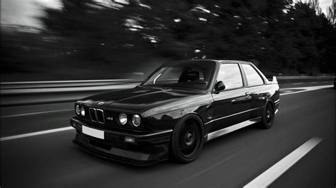 Bmw e30 m3 black and white wallpaper   AllWallpaper.in
