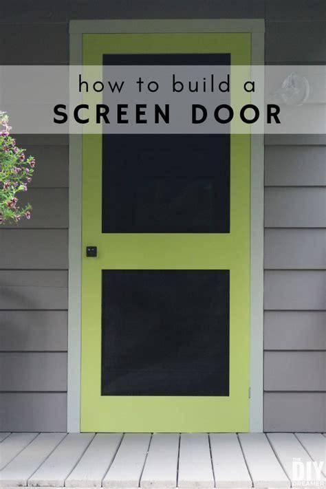 build  screen door diy screen door