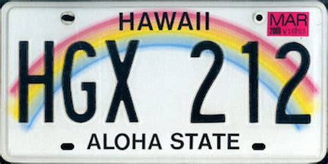 Vanity Plates Hawaii by Hawaii State License Plate