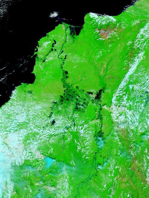 imagenes satelitales falso color mapa de inundaciones en el norte de colombia falso color
