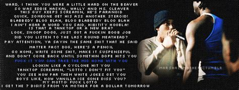eminem movie rap battle lyrics quotes from eminem 8 mile quotesgram