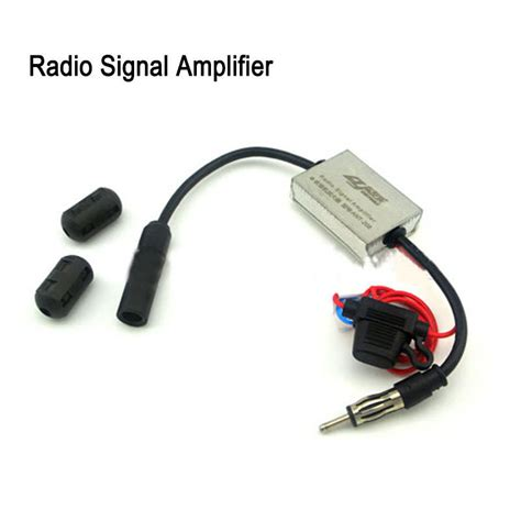 12v new metal universal auto car antenna radio signal lifier fm booster strong anti
