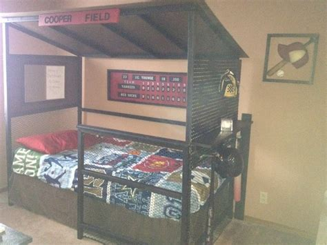 baseball beds baseball dugout bed for my kids pinterest baseball