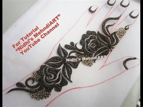 henna tattoo design tutorial gulf style thick bold floret henna mehndi design tutorial
