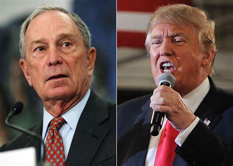 billionaire battle bloombergs worth  trump