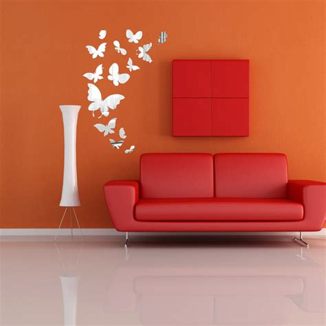 butterfly mirror wall stickers 14pcs butterfly mirror wall stickers mirror home decal interior decoration alex nld